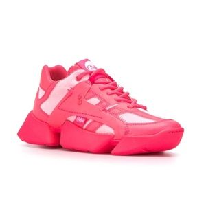 Junya Watanabe x Buffalo London Hot Pink Sneakers